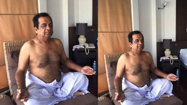 Pic Talk Brahmanandams Yoga Makes You all Smile a Lot