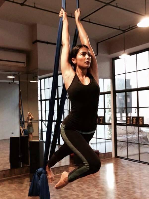 Pic Talk Pooja Hegde flexing muscles