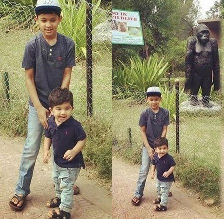 Allu Arjun Son Allu Ayaans Day out at the Zoo