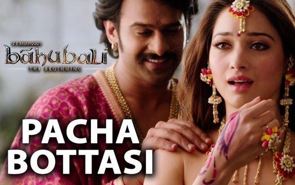 Pacha Bottesi Full HD Video Song Baahubali Movie