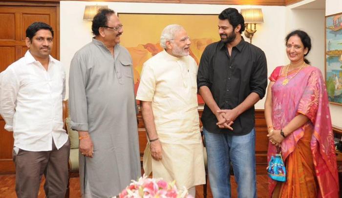 Pic Talk Narendra Modi Met 'Baahubali' Prabhas Telugu Actor Urges PM to Watch Baahubali