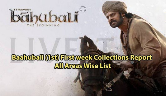 Prabhas Baahubali (1st) First week Collections Report All Areas Wise List