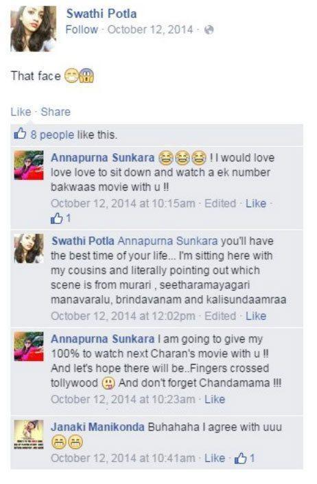 Annapurna Sunkara and Her Friend Swathi Potla Stupid Comments On Actor Ram Charan's face2