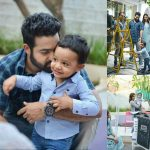 Jr NTR Lakshmi Pranathi Son Abhay Ram Nandamuri Latest New HD Photos at JanathaGarage