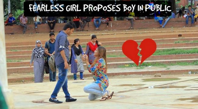 Girl Propose to her Boy Friend in Public. He Rejected She started Crying on the Spot