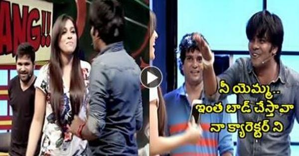 Anchor Rashmi Gautam Teasing and Talking Very Badly About Comedian Sudigali Sudheer In A Show.. See What Sudheer had done