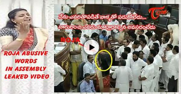 YSRCP MLA Roja Abusive Words In Andhra Pradesh Assembly Leaked Video