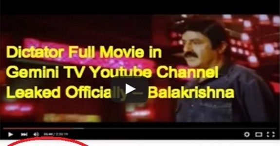 Dictator Full Movie in Gemini TV Official Youtube Channel Leaked Officially
