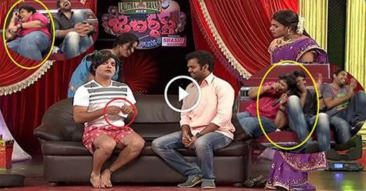 Getup Srinu Ultimate Skit See How They Can't Controlling Laughing