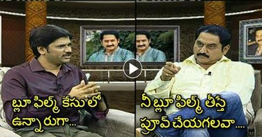 Hero Suman Punch To Anchor On Blue F!lm Controversy At HMTV Interview