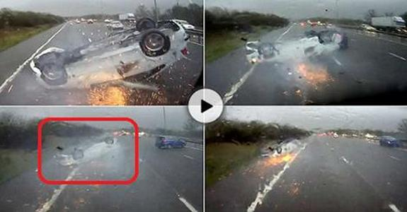 Miracle escape for baby after shocking car crash on M5 in West Midlands