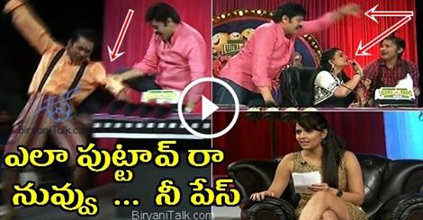 Nagababu Beating Rocking Rakesh For His Funny Skit,Dont Know Why Nagababu Behave Like That