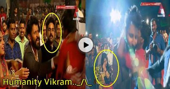 Yesterday Chiyaan Vikram Fan Video Goes Viral in Asianet Film Awards 2016