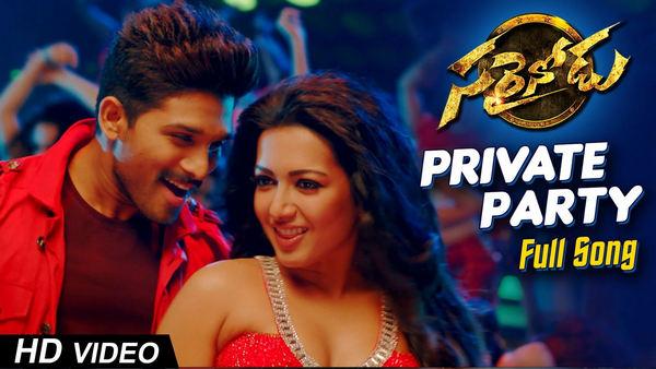 Private Party Full Song HD 1080P Video Sarrainodu Movie Allu Arjun, Rakul Preet