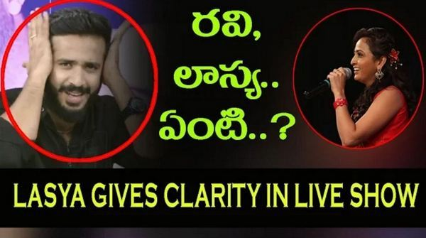 Anchor Lasya Clarifies About her Relationship With Ravi In a Live Show