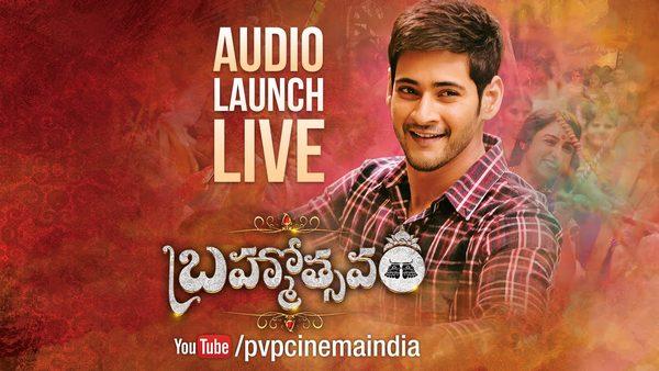 Mahesh Babu's Brahmotsavam Audio Launch Live