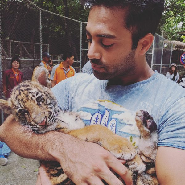 Navdeep With Little Tiger