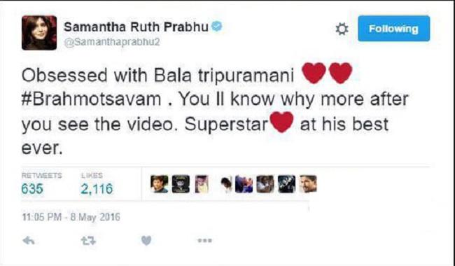 Samantha Deleted Tweet On Mahesh Babu