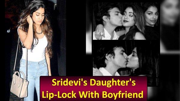 Sridevi's Daughter's Lip-Lock With Her Boyfriend Goes Viral