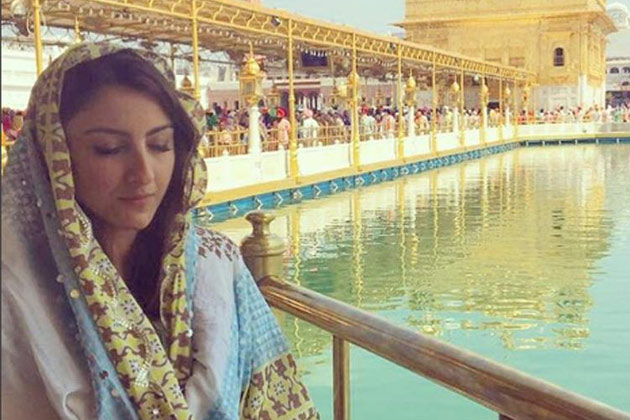 Soha Ali Khan back on blare and visiting temples