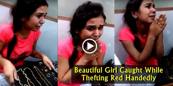 Beautiful Indian Girl Did Unbelievable Thing And Caught Red Handedly. What If a Boy did that..