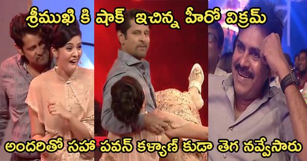 hero-vikram-sudden-dance-with-anchor-srimukhi-in-awards-function
