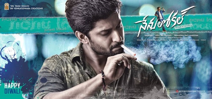 Nani Shows Attitude with Nenu Local Movie First Look Poster