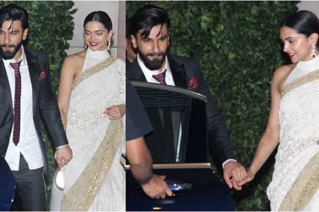 Star Couple walks Hand-in-Hand
