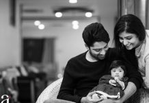 Allari Naresh with his Baby Girl Ayana Evika Edara