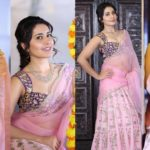 Rashi Khanna Hot in Pink Saree Latest Photos HD Stills | Rasi Khanna ULTRA HD Photos Images