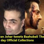 Karan Johar tweets Baahubali The Conclusion's day 1syt day Official Collections