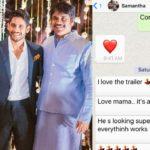 Nagarjuna Samantha Mama Kodalu's sweet Whatsapp chat!