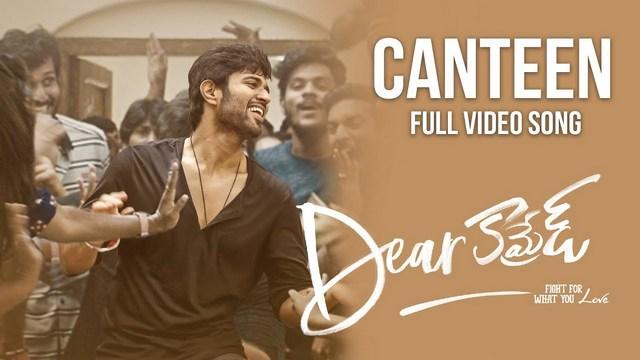 canteen full video song hd p dear comrade telugu