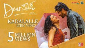 Kadalalle Full Video Song HD 1080P | Dear Comrade Telugu Movie Dear Comrade Video Songs | Vijay Deverakonda, Rashmika Mandanna | Justin Prabhakaran