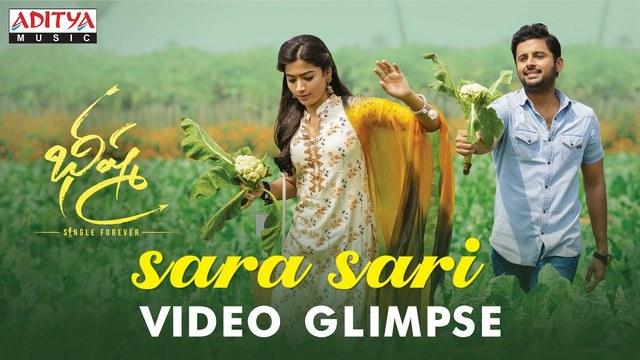 Sara Sari Full Video Song Hd 1080p Bheeshma Telugu Movie Bheeshma Video Songs Nithiin Rashmika Mandanna Mahati Swara Sagar 25cineframes