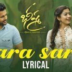 Sara Sari Full Video Song HD 1080P | Bheeshma Telugu Movie Bhishma Video Songs | Nithiin, Rashmika Mandanna | Mahati Swara Sagar