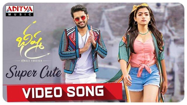 Super Cute Full Video Song Hd 1080p Bheeshma Telugu Movie Bhishma Video Songs Nithiin Rashmika Mandanna Mahati Swara Sagar 25cineframes